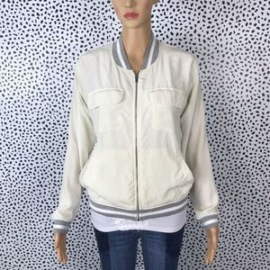 Anthro || Laila & Savannah silk jacket size medium